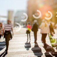 people walking in street